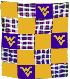 West Virginia Mountaineers Quilt