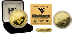 West Virginia University 24KT Gold Coin