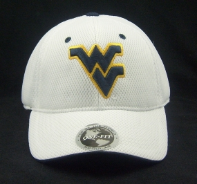 West Virginia Mountaineers White Elite One Fit Hat