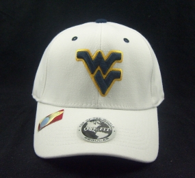 West Virginia Mountaineers White One Fit Hat