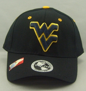 West Virginia Mountaineers Black One Fit Hat