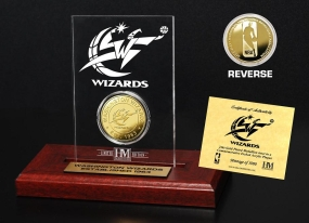 Washington Wizards 24KT Gold Coin Etched Acrylic