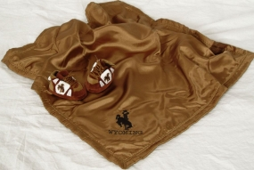 Wyoming Cowboys Baby Blanket and Slippers