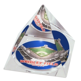 Chicago Cubs Crystal Pyramid