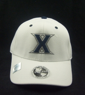 Xavier Musketeers White One Fit Hat