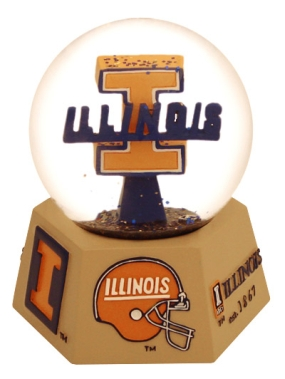 ILLINOIS U FIGHTING ILLINI LOGO MUSICAL GLOBE