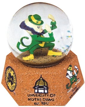 NOTRE DAME FIGHTING IRISH MASCOT MUSICAL GLOBE
