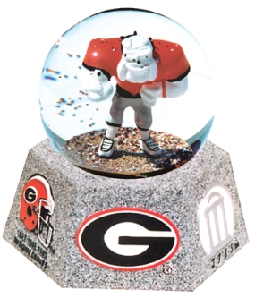 GEORGIA U BULDOGS MASCOT MUSICAL GLOBE