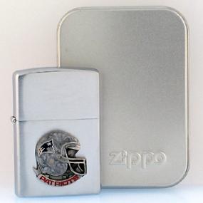 NFL Zippo Lighter - Patriots  Helmet