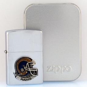NFL Zippo Lighter - Rams Helmet