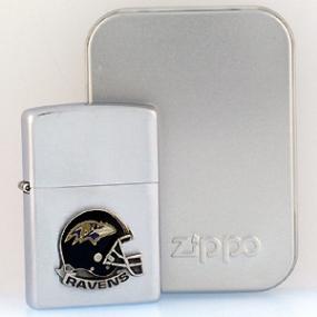 NFL Zippo Lighter - Ravens Helmet