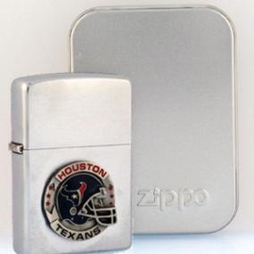 NFL Zippo Lighter - Texans Helmet