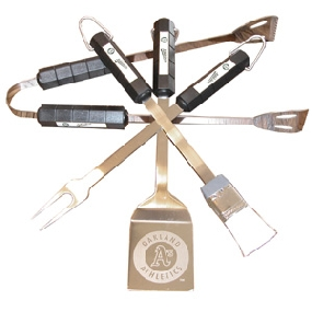 Oakland Athletics BBQ Tool Set