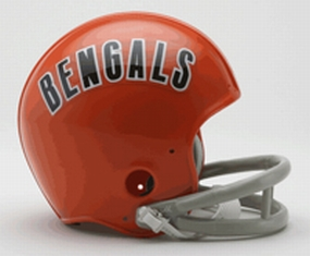 1968-1979 Cincinnati Bengals Throwback Mini Helmet