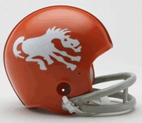 1962-1965 Denver Broncos Throwback Mini Helmet