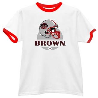 Brown Bears Modern Helmet Ringer Tee