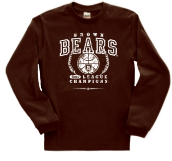 Brown Bears '85 Basketball League Champs Long Sleeve Tee