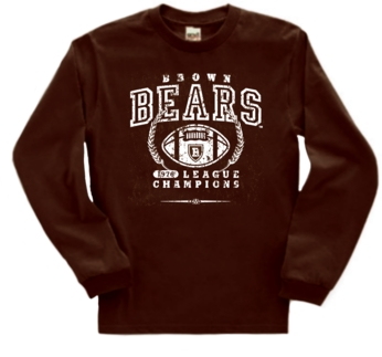 Brown Bears '76 Football League Champs Long Sleeve Tee