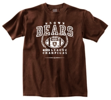 Brown Bears '76 Football League Champs  Tee