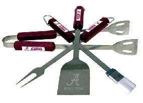 Alabama Crimson Tide BBQ Tool Set