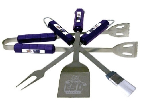 LSU Tigers BBQ Tool Set