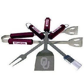 Oklahoma Sooners BBQ Tool Set