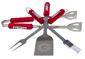 Georgia Bulldogs BBQ Tool Set