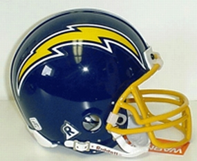 1974-1987 San Diego Chargers Throwback Mini Helmet
