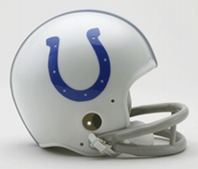 1958-1977 Indianapolis Colts Throwback Mini Helmet