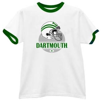 Dartmouth Big Green Modern Helmet Ringer Tee