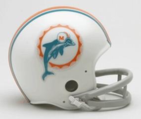 1972 Miami Dolphins Throwback Mini Helmet