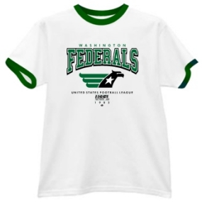 Washington Federals USFL Ringer T-Shirt