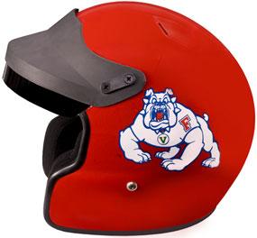 Fresno State Bulldogs Motorcycle Helmet
