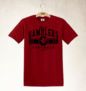 Houston Gamblers Logo Tee