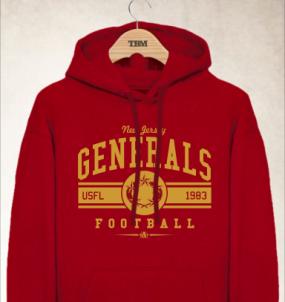 New Jersey Generals Logo Hoody