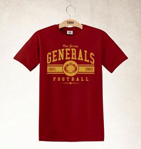 New Jersey Generals Logo Tee