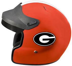Georgia Bulldogs Motorcycle Helmet