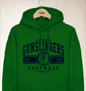 San Antonio Gunslingers Logo Hoody