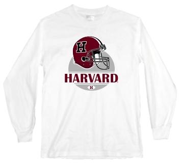 Harvard Crimson Modern Helmet Long Sleeve Tee