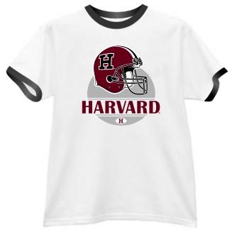 Harvard Crimson Modern Helmet Ringer Tee