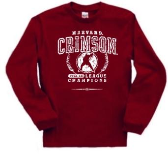 Harvard Crimson '54 Hockey League Champs Long Sleeve Tee