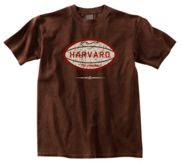 Harvard Crimson Pigskin Tee
