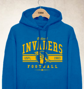 Oakland Invaders Logo Hoody