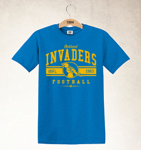 Oakland Invaders Logo Tee