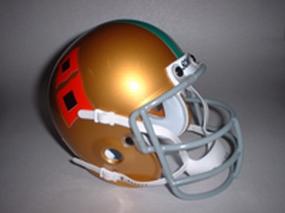 1967 Miami Hurricanes Throwback Mini Helmet