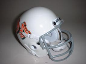 1970 Miami Hurricanes Throwback Mini Helmet