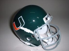 1972 Miami Hurricanes Throwback Mini Helmet