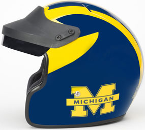 Michigan Wolverines Motorcycle Helmet