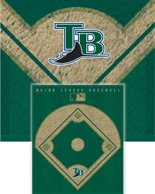 Tampa Bay Rays Diamond Fleece Blanket