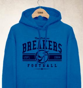 New Orleans Breakers Logo Hoody